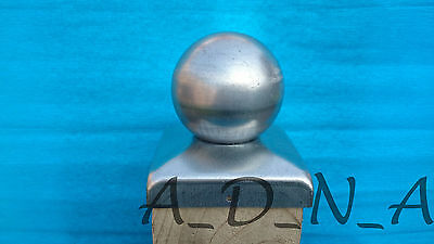 110 mm x 110 mm  GALVANISED SQUARE  METAL FENCE POST CAP TOP  WITH BALL
