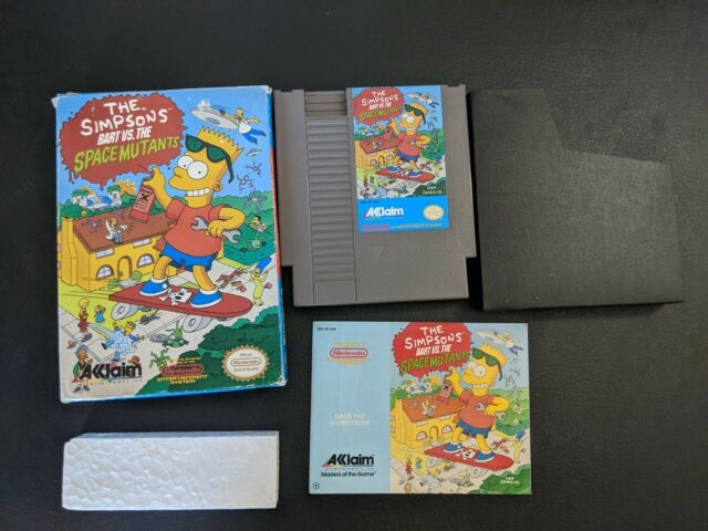 The Simpsons Bart vs the Space Mutants Authentic Nintendo NES EX+COMPLETE n box!