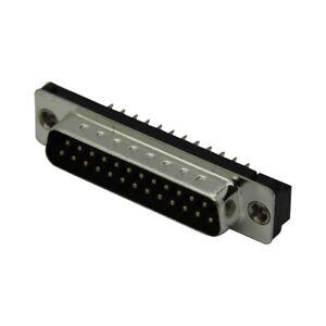 DB25-PA-M2 D-Sub PIN screws ADAM T 25 socket male straight THT UNC4-40 Locking