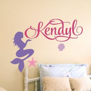 Details About S Name Wall Decal Mermaid Personalized Baby Nursery Decor