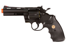 "4"" TSD UHC Airsoft Spring Powered Revolver Pistol Gun Black UA937B w/ 8 Shells"