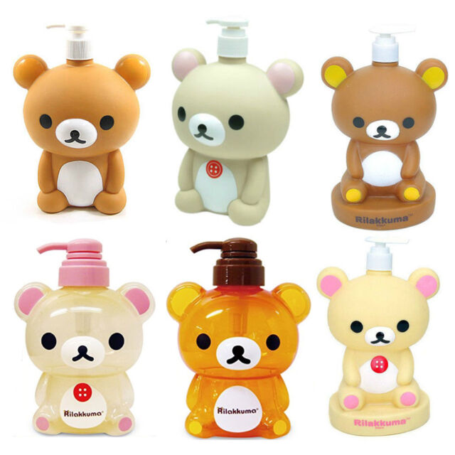 Rilakkuma Lotion Shampoo Empty Bottle Soap Water Pump Dispenser Container Baby