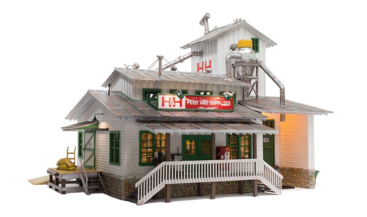 O Woodland Scenics  Built Up  5859 * H&H Feed Mill * NIB
