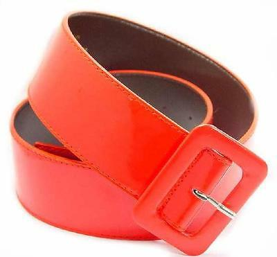 """154 - 2"""" WIDE WHOLESALE LADIES FASHION PATENT LEATHER BELT W/MATCHING BUCKLE"""