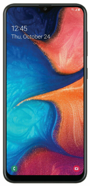 Android Phone - Samsung Galaxy A20 SM-A205U 32GB - Black (Sprint T-mobile AT&T) Unlocked A stock