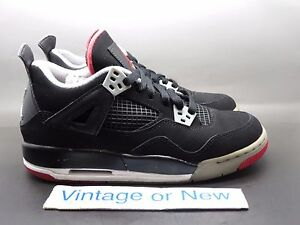 738feb16160245 Image is loading Nike-Air-Jordan-IV-4-Bred-Retro-GS-