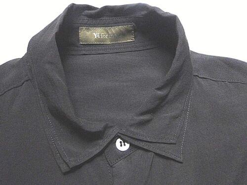 Ch Rayon Yamamoto Camicia Nera Doppio Collo X Anni Yohji Di Media YvfUqaaH