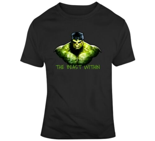 The Beast Within Incredible Hulk Bodybuilding T-shirt Gym Motivation