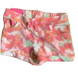 Isaac Mizrahi girls 5-6 shorts multicolor print cuff hem nwt kawaii