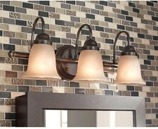 Hampton Bay Springston 3-Light Oil Rubbed Bronze Vanity Light Home Bathroom New