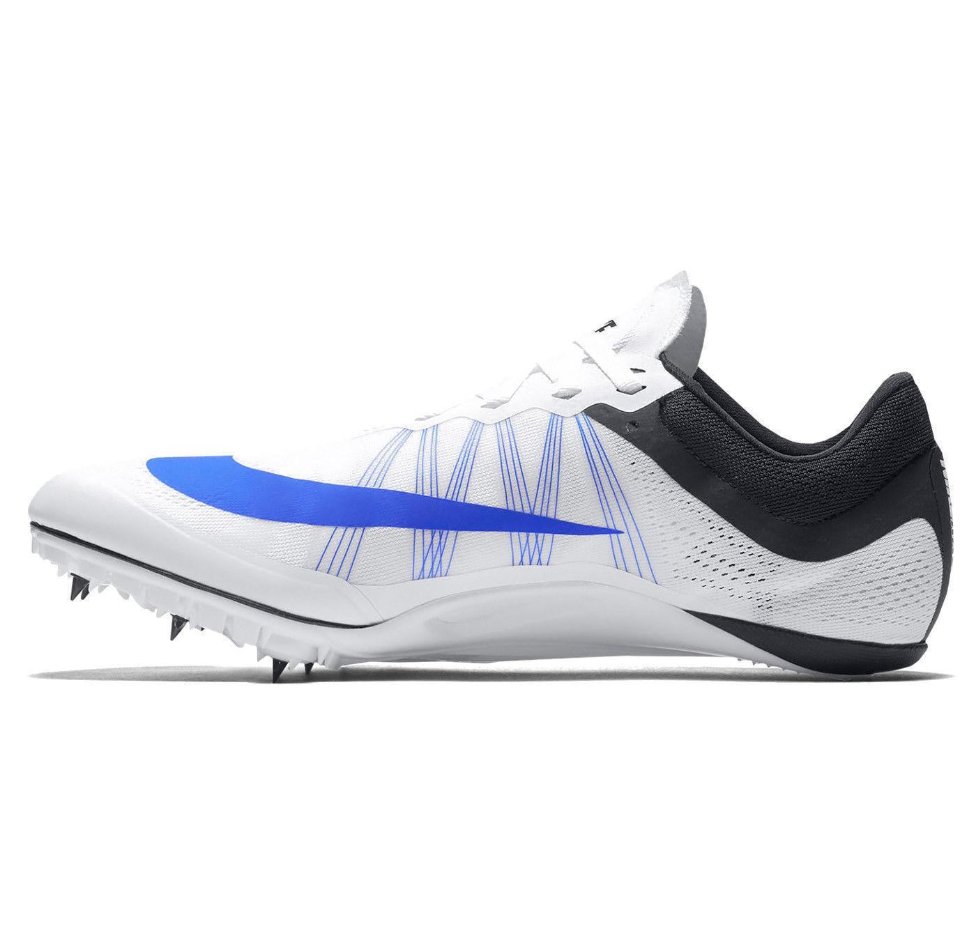 Nike Zoom JA Fly 2 Men's Sprint Spikes - Sz 12.5 White/Black/Blue 705373-100