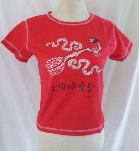 Tibetan Dawn Woman T-Shirt Tibetan Dragon Guitar Tee Shirt Yoga Snug Fit Top