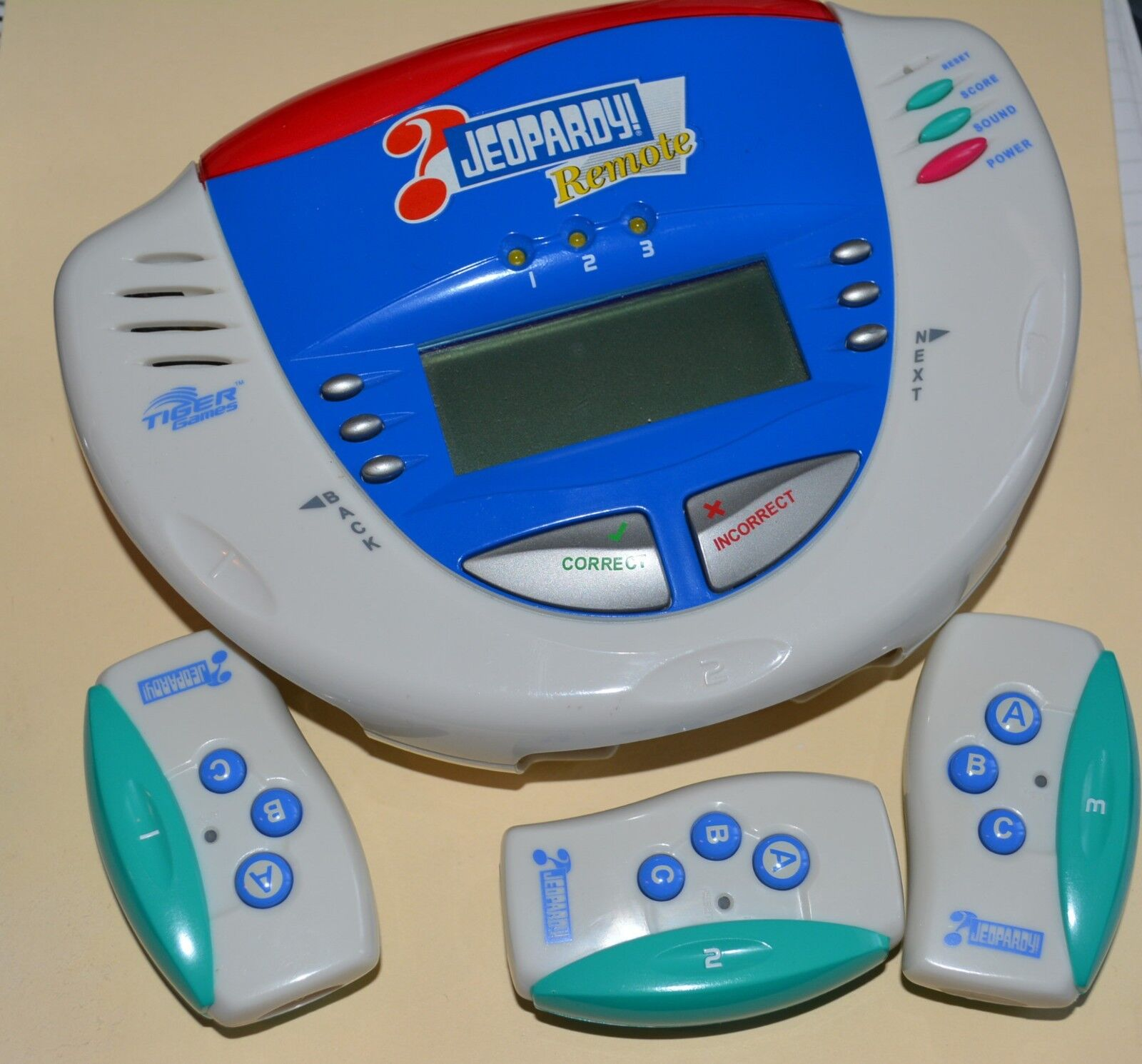 Tiger Game Electronic Remote Jeopardy Electronics Handheld