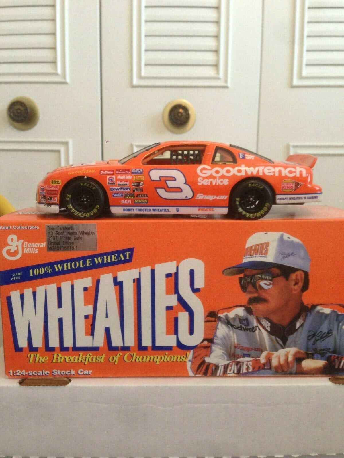1997 Action Dale Earnhardt Earnhardt Earnhardt Goodwrench Wheaties Limited Edition Monte Carlo 1 24 36a170