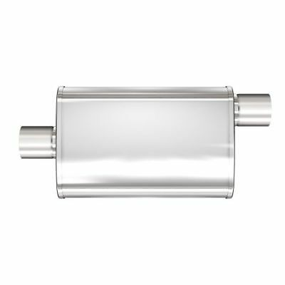 """MAGNAFLOW 11256 4/"""" x 9/"""" UNIVERSAL Oval SS Muffler Satin Finish 2.5/"""" In//Out"""