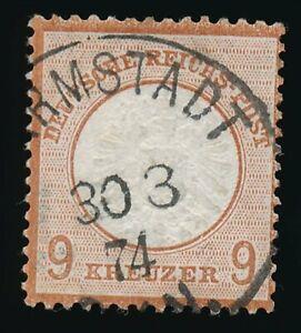 D-Reich-Nr-27-a-gestempelt-K1-DARMSTADT-30-3-74-geprueft-Sommer-BPP-58264