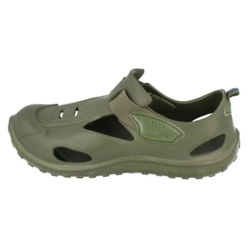 2606 Green Garden Shoes Mens Spot On Canvas Sandals
