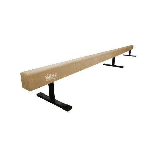 Tan, 12 feet Long, 12 inch High Suede Gymnastics Balance Beam, Nimble Sports