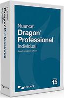 Nuance Dragon Professional Individual 15 - Brand Retail Box K809a-g00-15.0
