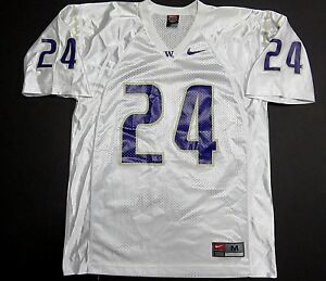 NIKE-NCAA-University-of-Washington-Huskies-Football-24-White-Jersey-Men-039-s-Sz-M