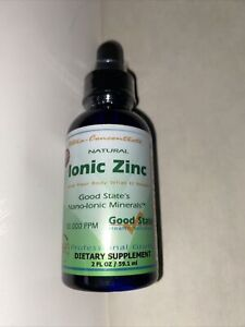 Ionic Zinc•Good State•Ultra Concentrate 2oz Drops SEALED EXP 03/23 FREE SHIP
