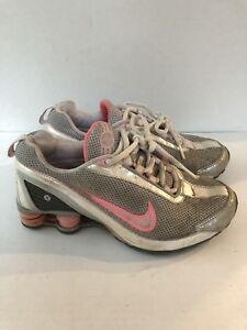 0f8a46b3c9 Nike Shox Turbo VII Tennis Shoes Metallic Silver Pink 325067-061 ...