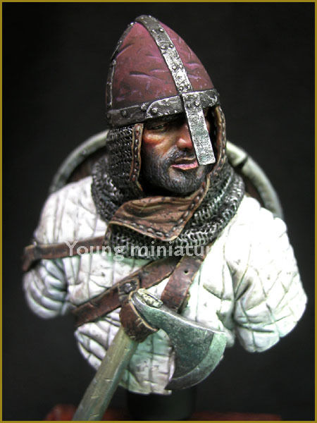 Young Miniatures Norman Knight Hastings 1066 YH1830 1 10th Bust Unpainted kit