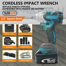 Brushless Cordless Impact Wrench With Battery Charger 12 18v Replace Makita Us