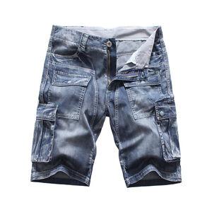 0dacec9242 FOX JEANS Men's Nelson Casual Denim Blue Cargo Shorts-SIZE 32 ...