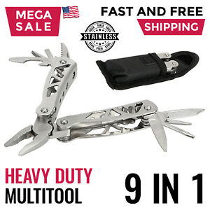 Multi Tool Survival Kit Folding Pliers Saw Knife Camping Hunting Fishing Outdoor