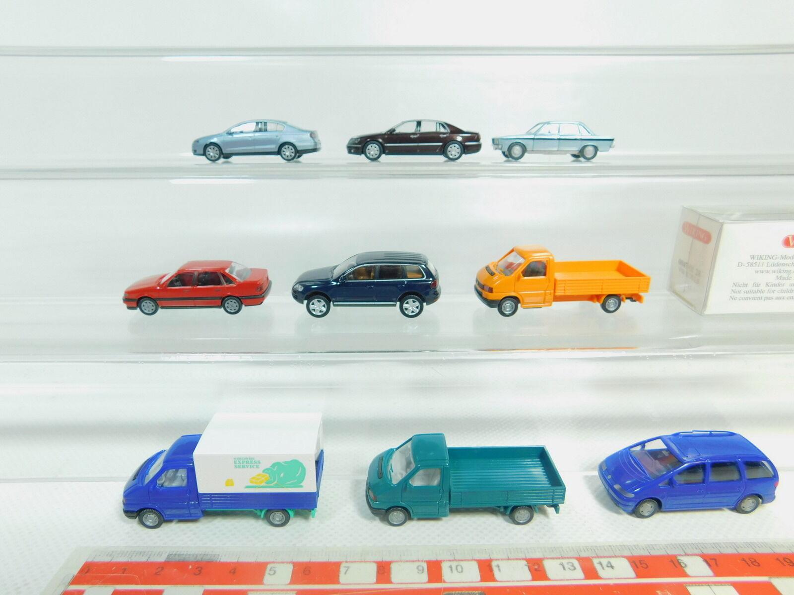 BO583-0,5  9x Wiking H0 1 87  Modello VW  87  0047 K 70 + Touareg Ecc. ,Nuovo + 1x 02f6c8