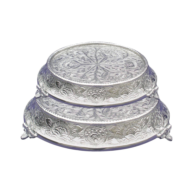 Giftbay wedding cake stand conique ronde Set 16  18 , argent pour professionnels