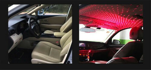 Car LED Roof Star Night Light Projector Atmosphere Lamp USB+Android V8 Connector