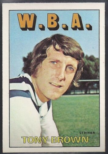 WEST BROM WBA TONY BROWN A/&BC-FOOTBALL 1972 ORANGE//RED BACK-#054