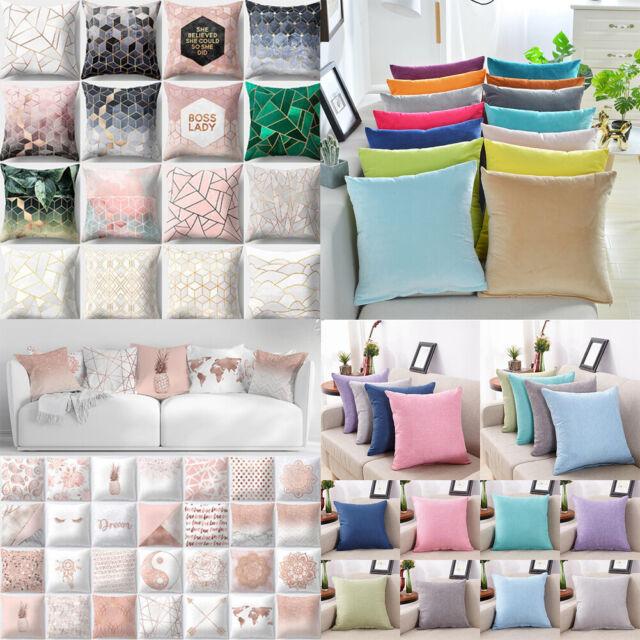 Geometric Throw Pillows Case Gray