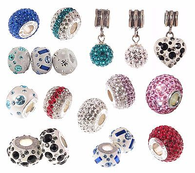 round heart spacer *New* Rhona Sutton 925 sterling silver European charm bead