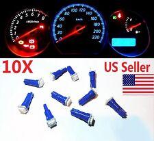10x T5 Blue Car 5050 SMD 1LED Instrument Dashboard Gauge Mini-Wedge Bulb light