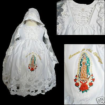 NEW Baby Girl & Toddler Baptism Christening Formal Dress Guadalupe Gold 0M-30M