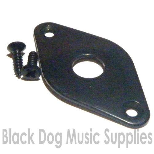 Gitarre jack platte in chrom schwarz oder gold inkl schrauben eingang buchse