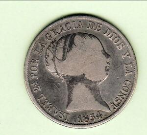 Impartial Espagne Isabel Ii 4 R 1854 Madrid Rare