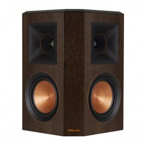 COPPIA DIFFUSORI SURROUND KLIPSCH RP-502S WALNUT CASSE SPEAKERS ALTOPARLANTI