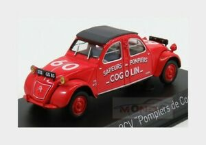 Citroen 2Cv Cogolin Sapeurs Pompiers 1961 Red NOREV 1:43 NV150091