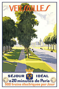 FRANCE BY TRAIN . Vintage Travel//Promotional Poster  A1A2A3A4Sizes