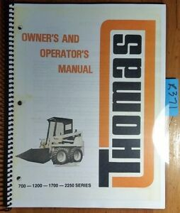 thomas 700 1200 1210 1220 1230 1700 1710 1720 2250 2250g 2250d skid rh ebay com Thomas Skid Steer Models Thomas Skid Steer Dealers