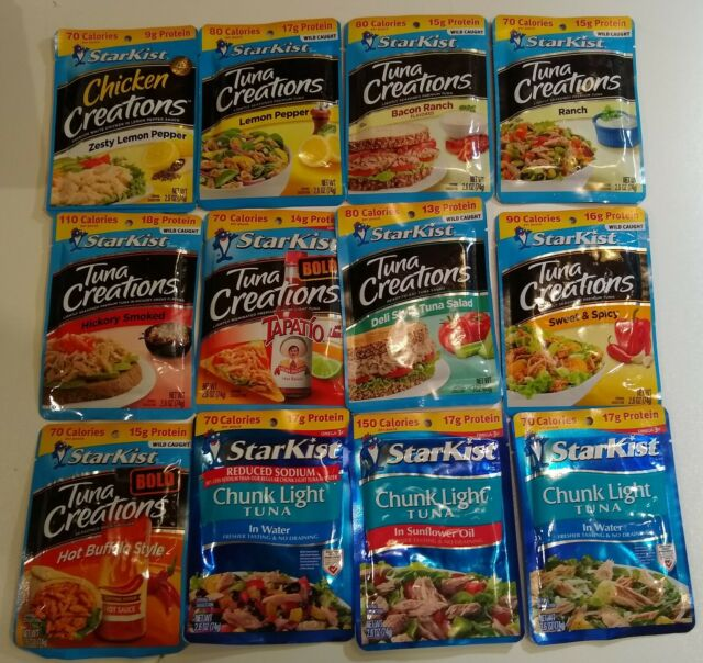 Lots Of 5 Starkist Tuna And Or Chicken Pouches Various Flavors Available