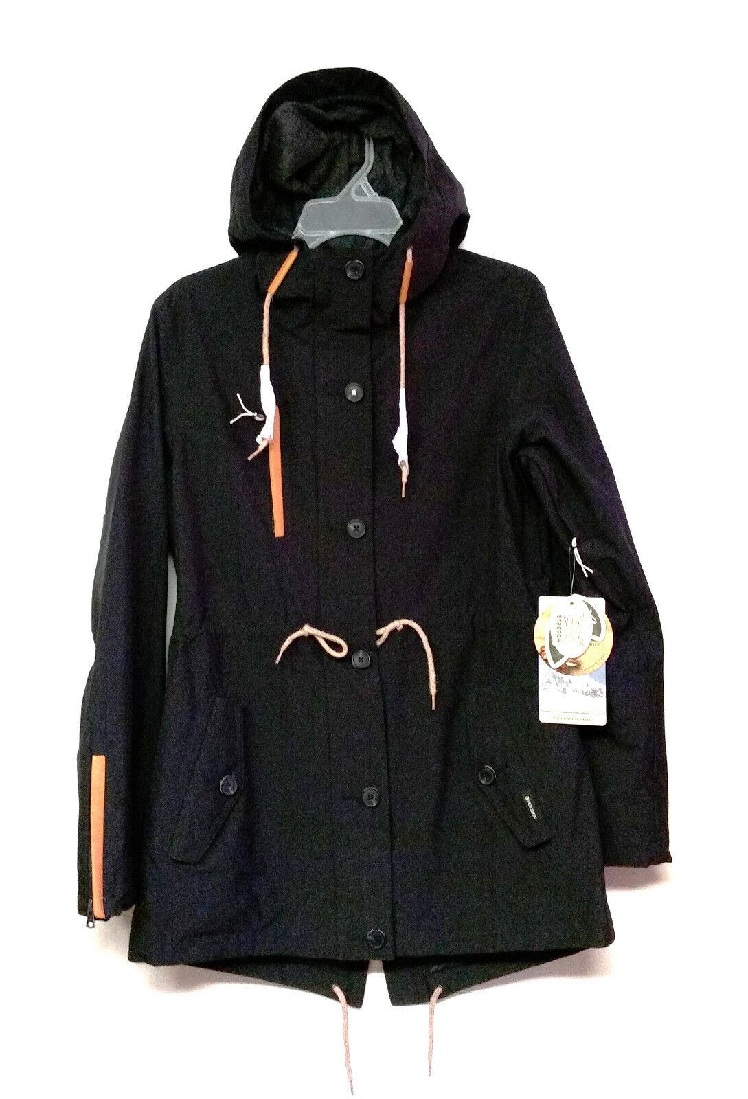 Fishtail Parka para Mujer HOLDEN Nieve Nieve Chaqueta-Negro-XS-Nuevo  con etiquetas  entrega rápida