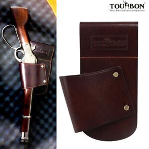 Tourbon-Leather-Gun-Holster-Shotgun-Hip-Waist-Carry-Belt-Clip-Rifle-Band-Hunting