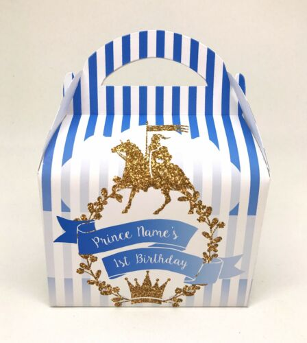 Prince Children/'s Personalised Party Boxes Favour 1ST CLASS POST