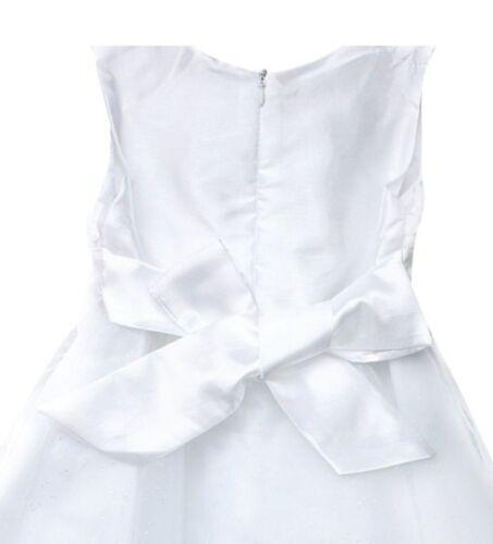 Girls bridesmaid dress baby flower children party rose bow wedding dress princes