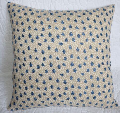 "* Zoffany Embroidery /""CORALINO BLUE/"" Cushion Cover Designer Fabric 16/"" 18/"""